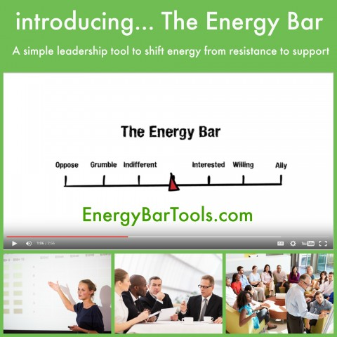 The Energy Bar: A leadership tool to shift energy from resistance to support